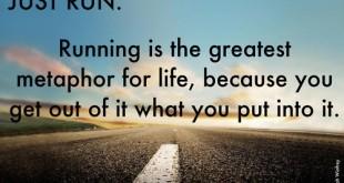 running metaphor