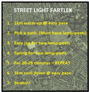 streelight fartlek