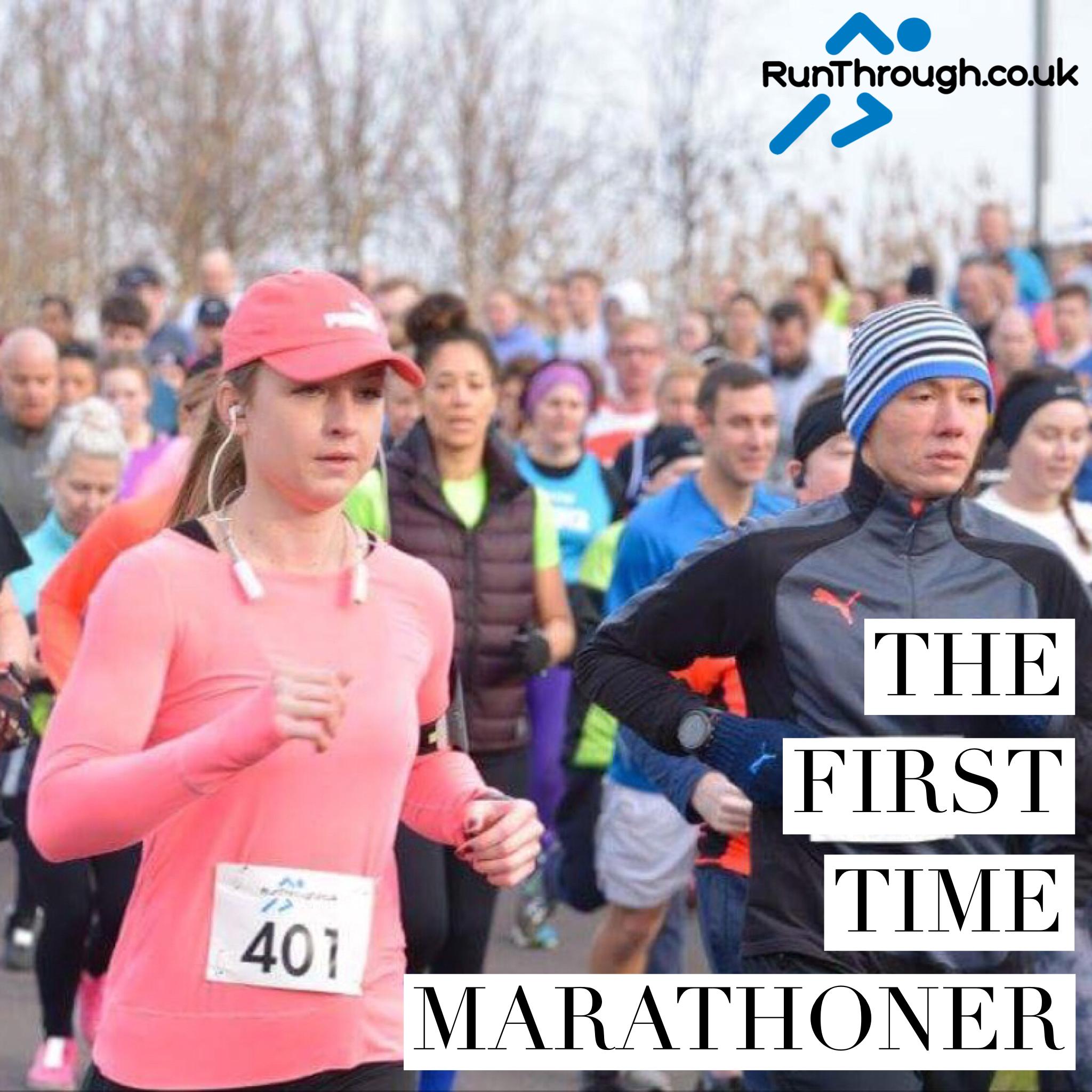 The first time marathon runner