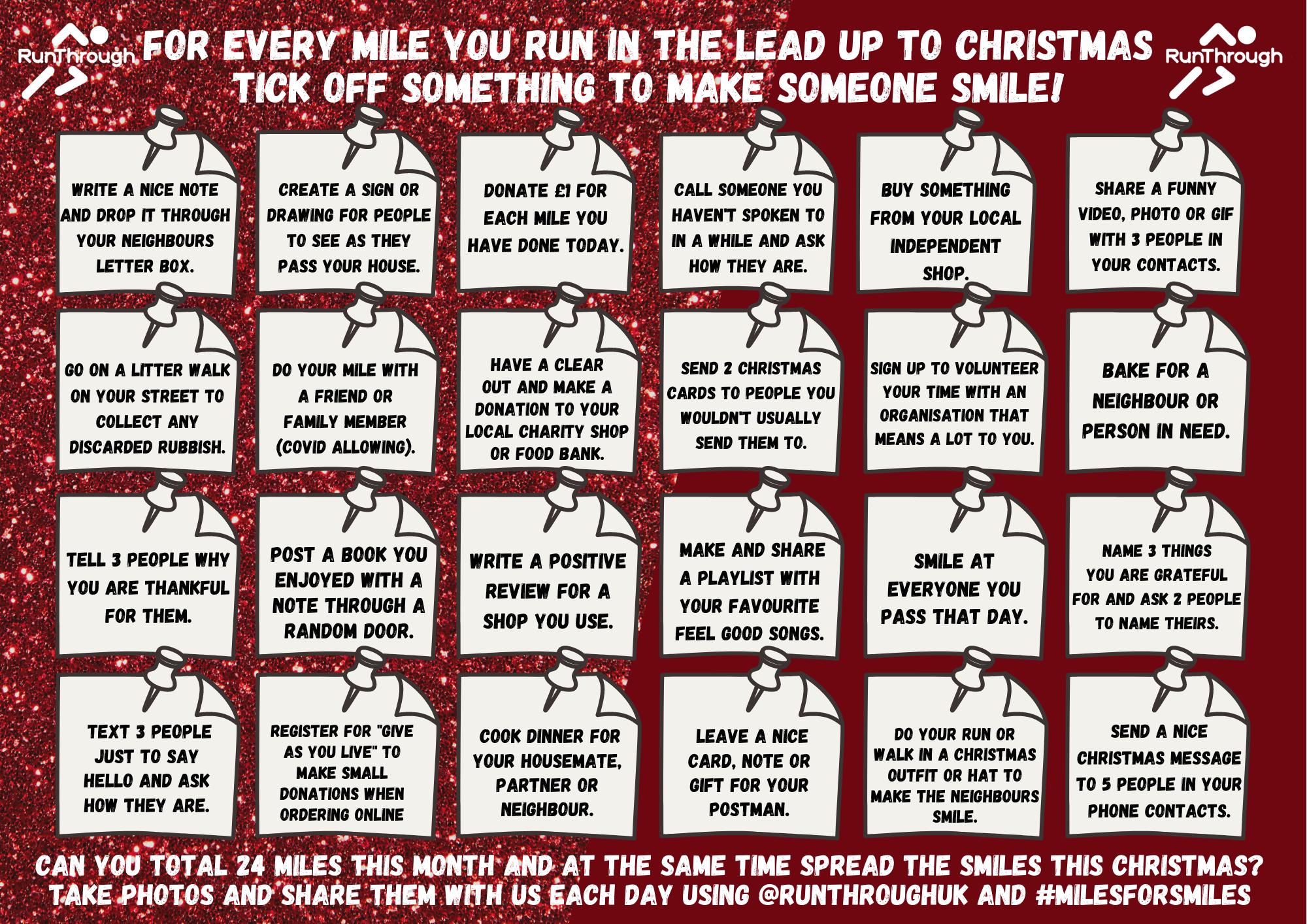 Miles for Smiles Christmas Countdown RunThrough Running Club London